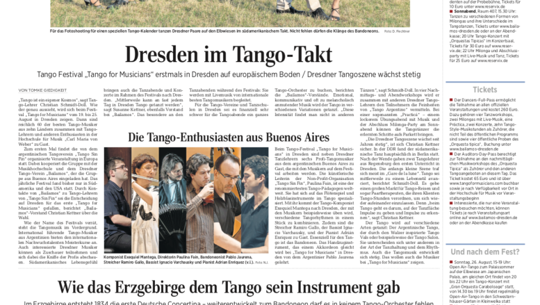 Tango for Musicians in Europe 2018 - DNN
